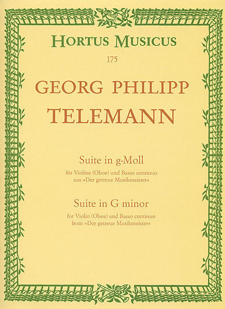 Telemann, Georg Philipp % Suite in g minor-OB/PN w/BC