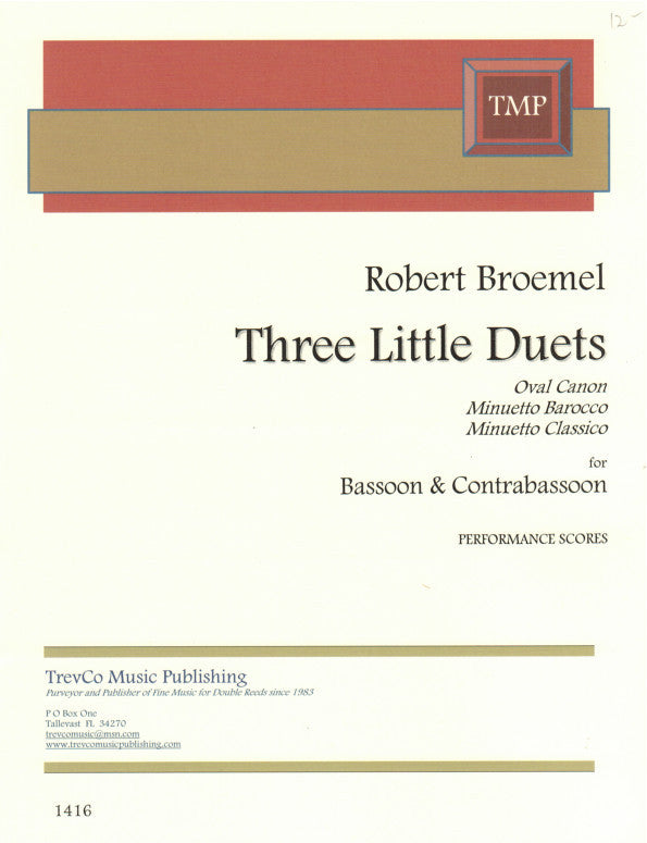 Broemel, Robert % Three Little Duets-BSN/CBSN