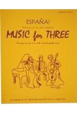 Collection % Music for Three, España, complete set of 7 parts - FLEXTRIO