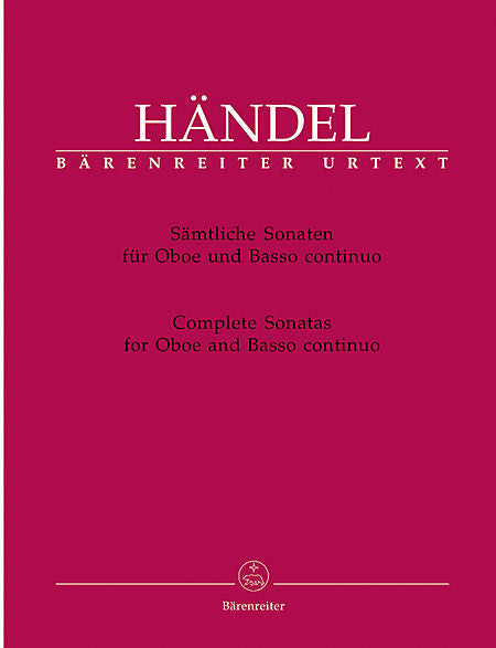 Handel, Georg Friederich % Complete Sonatas for Oboe and Basso Continuo-OB/PN