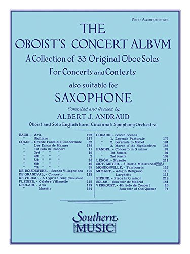 Collection % The Oboist's Concert Album (set)(Andraud) -OB/PN