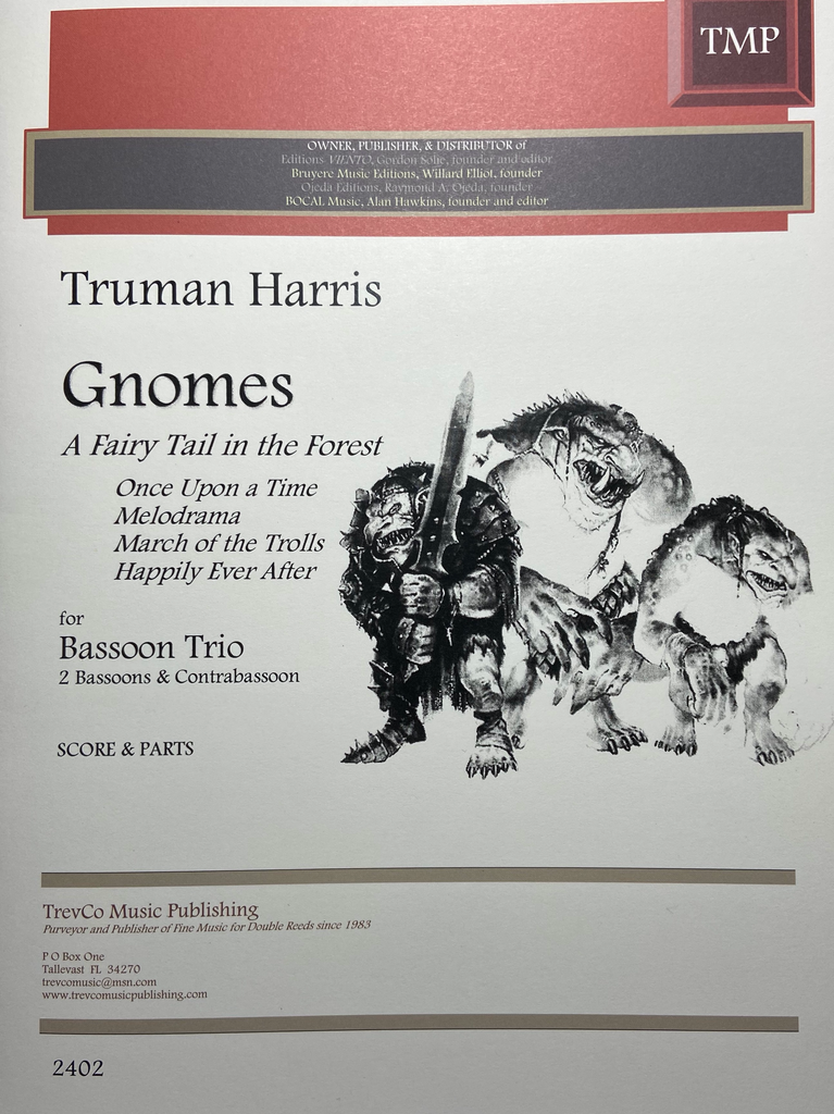 Harris, Truman % Gnomes A Fairy Tail in the Forest (score & parts)-2BSN/CBSN