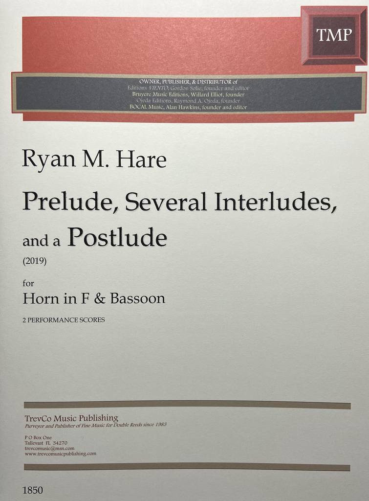 Hare, Ryan % Prelude, Several Interludes, and a Postlude-BSN/HRN