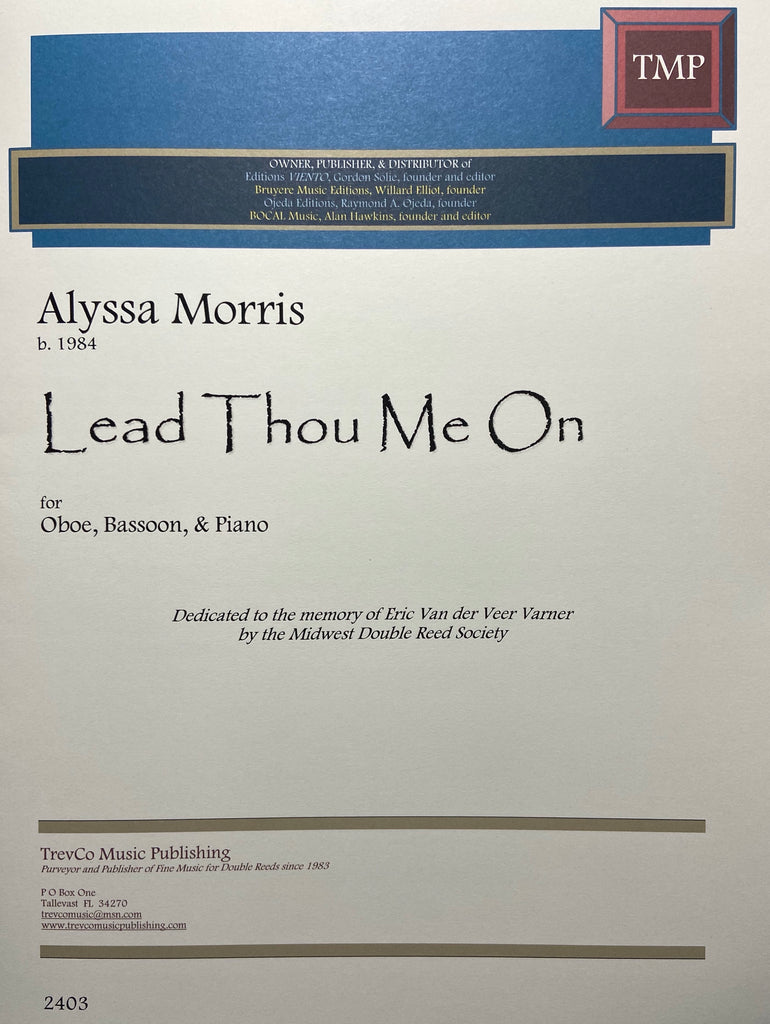 Morris, Alyssa % Lead Thou Me On - OB/BSN/PN