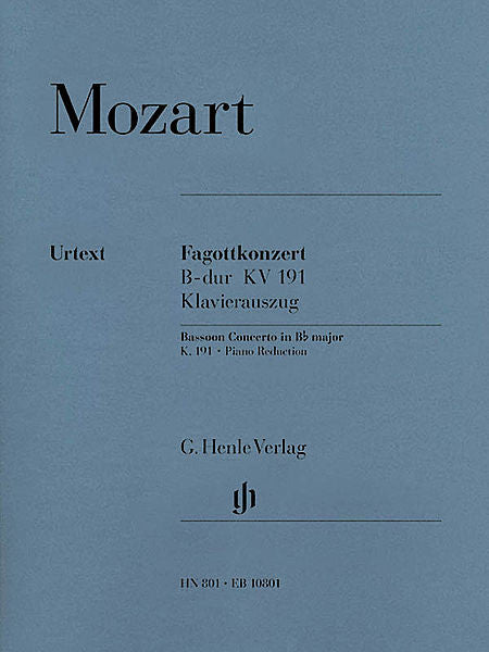 Mozart, Wolfgang Amadeus % Concerto in Bb Major K191 (Levin)-BSN/PN