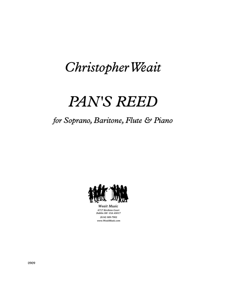 Weait, Christopher % Pan's Reed (score & parts)-SOP/BAR/FLUTE/PIANO