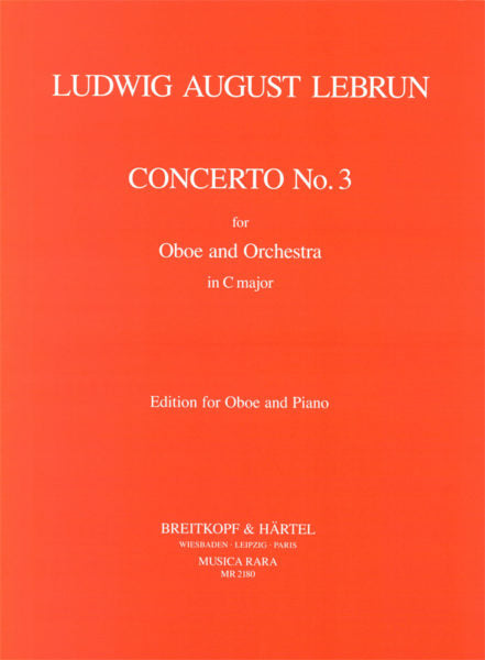 Lebrun, Ludwig August % Concerto #3 in C Major-OB/PN