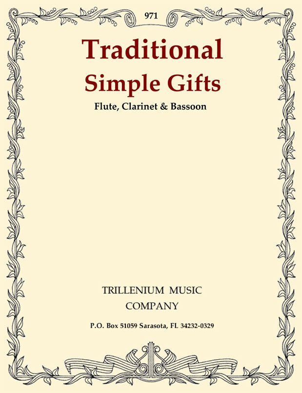 Trad % Simple Gifts (Score & Parts)-FL/CL/BSN