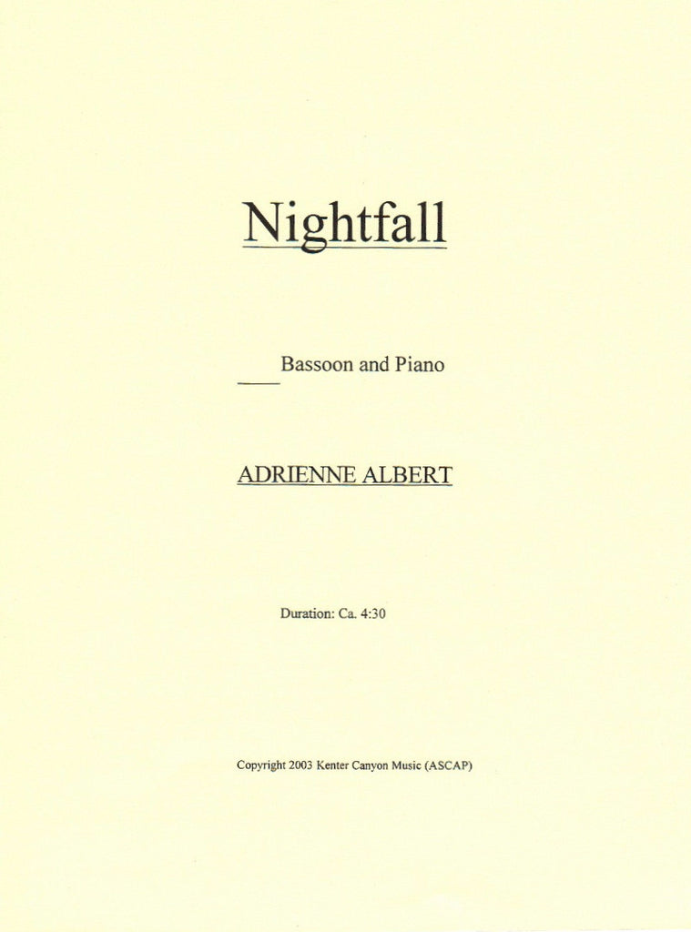 Albert, Adrienne % Nightfall-BSN/PN