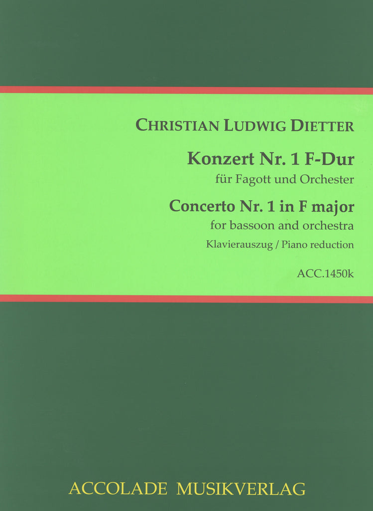 Dietter, Christian Ludwig % Concerto #1 in F Major-BSN/PN