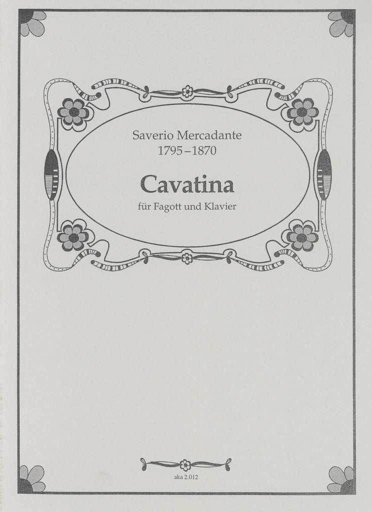 Mercadante, Saverio % Cavatina-BSN/PN