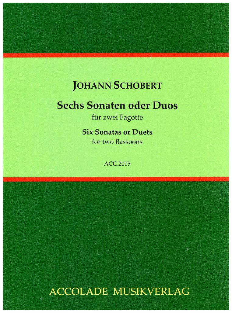 Schobert, Johann % Six Sonatas or Duets (Performance Score)-2BSN