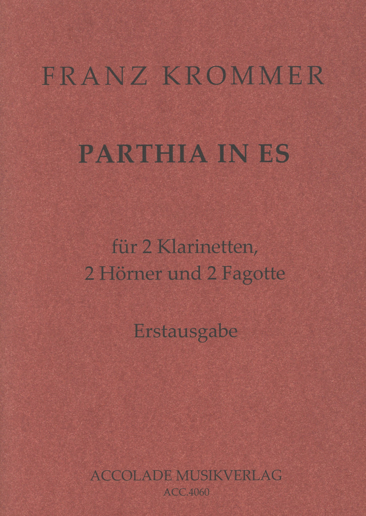 Krommer, Franz % Parthia (Sextet) in Eb Major (Score & Parts)-2CL/2HN/2BSN