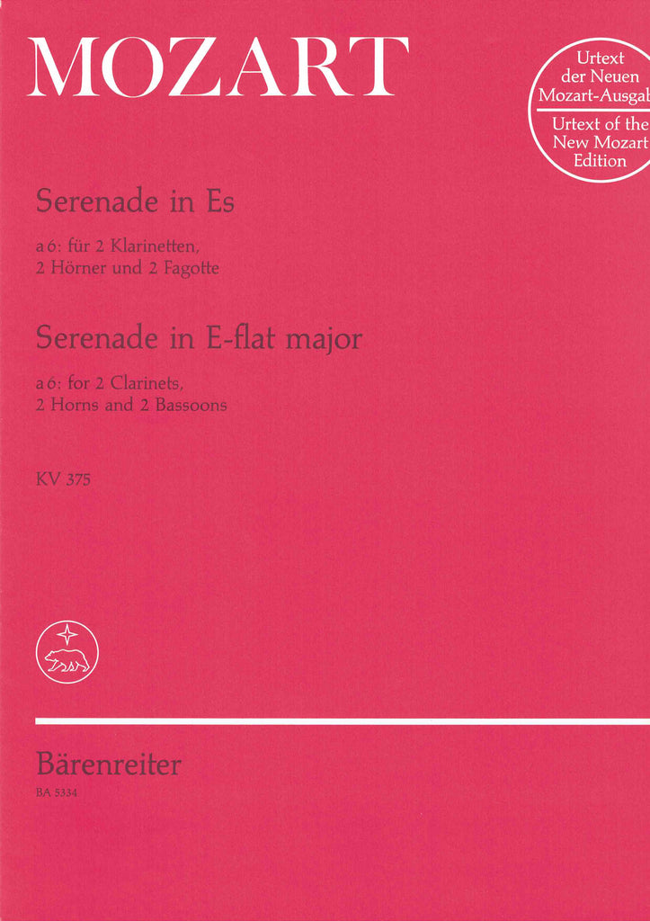 Mozart, Wolfgang Amadeus % Serenade in Eb Major (Parts Only) K375-2CL/2BSN/2HN