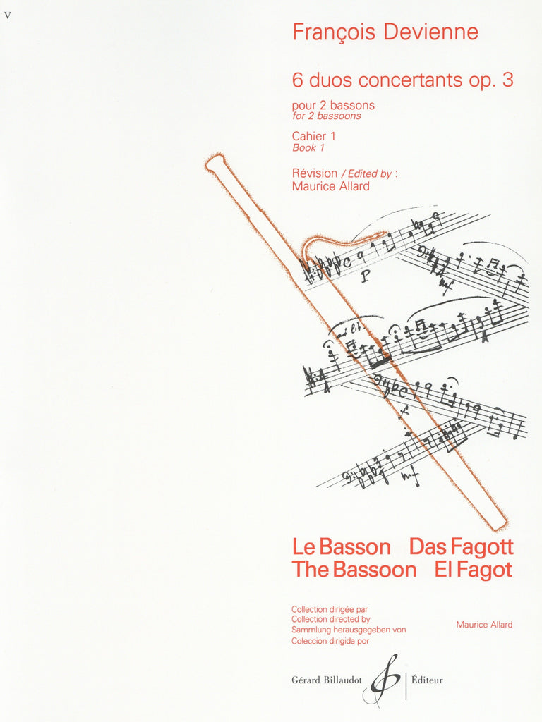 Bassoon Music-Devienne-24 Duets for Flute /& Bassoon