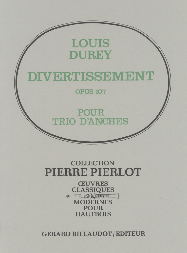 Durey, Louis % Divertissement Op 107 (score & parts)-OB/CL/BSN