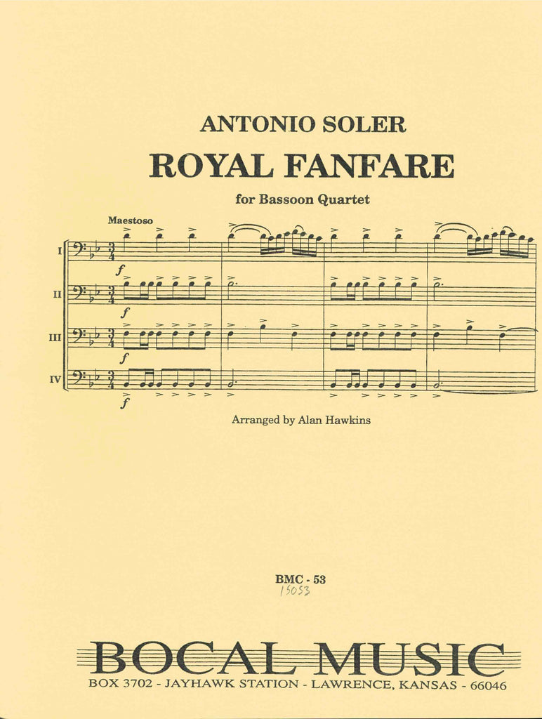 Soler, Antonio % Royal Fanfare (Score & Parts)-4BSN