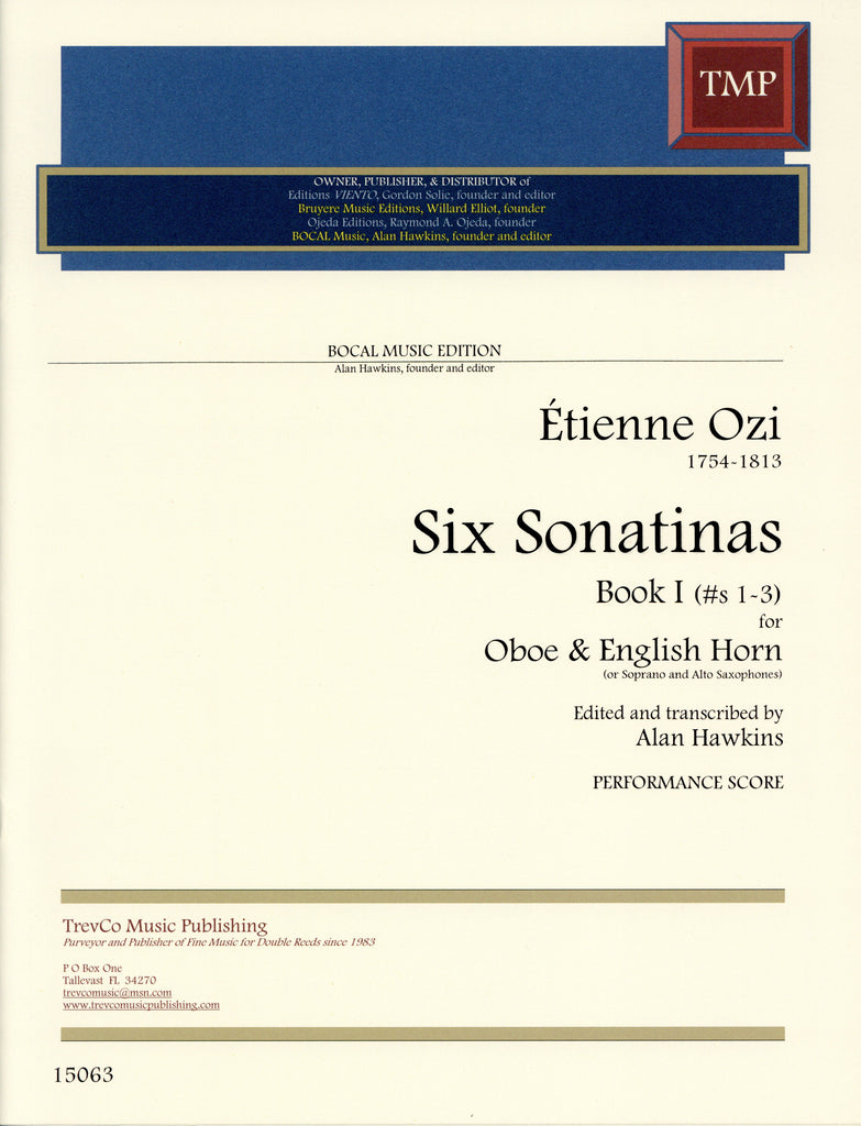 Ozi, Etienne % Six Sonatinas Book 1 (Performance Score)-OB/EH