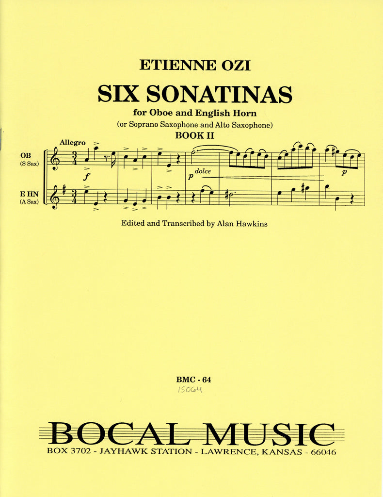 Ozi, Etienne % Six Sonatinas Book 2 (Performance Score)-OB/EH