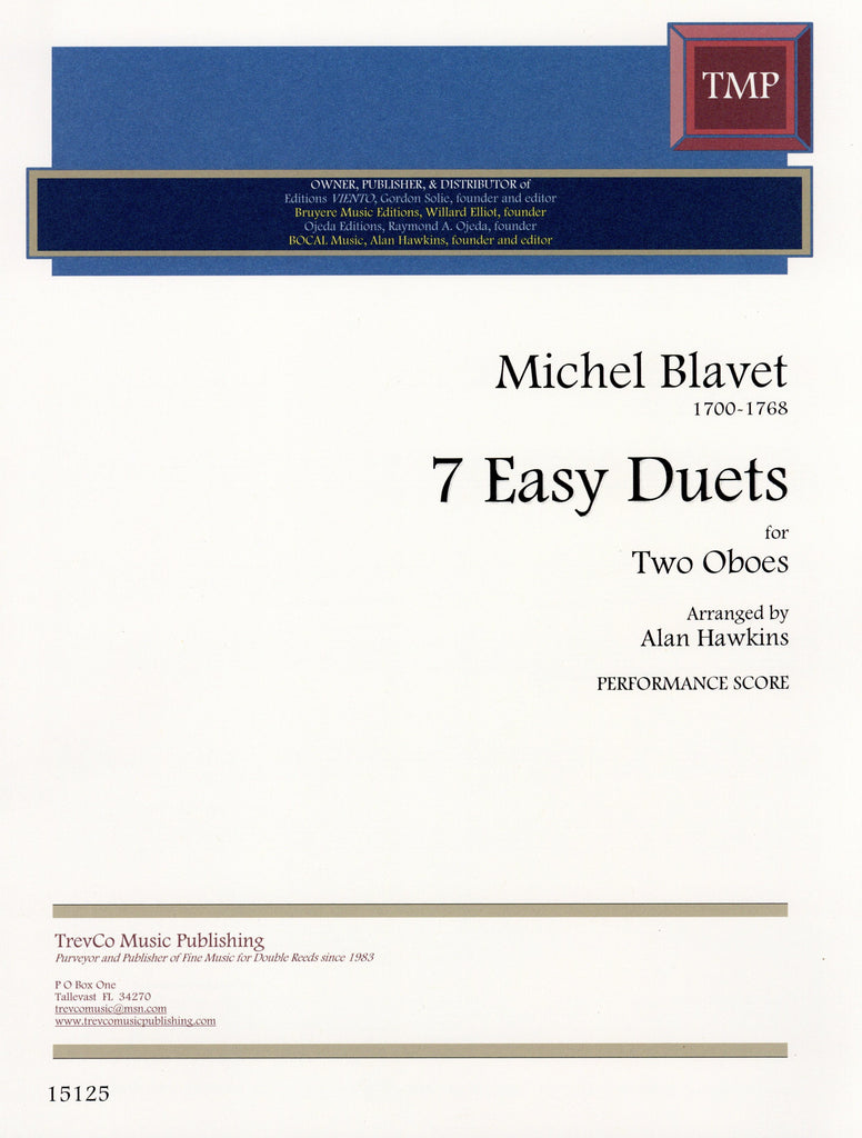 Blavet, Michel % 7 Easy Duets (Performance Score)-2OB