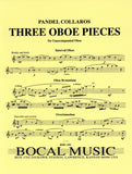 Collaros, Pandel % Three Oboe Pieces-SOLO OB
