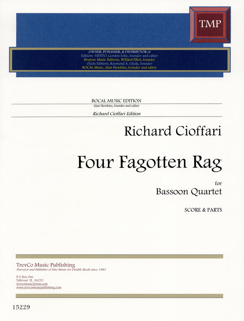 Cioffari, Richard % Four Fagotten Rag (Score & Parts)-4BSN