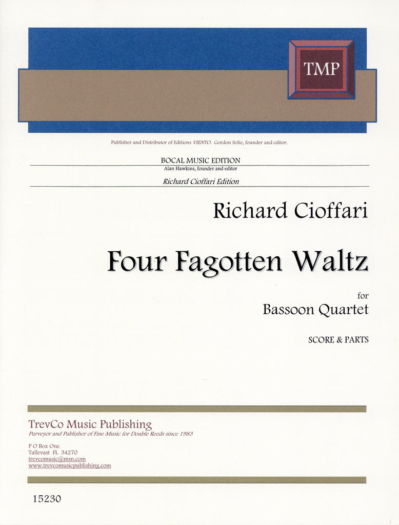 Cioffari, Richard % Four Fagotten Waltz (Score & Parts)-4BSN