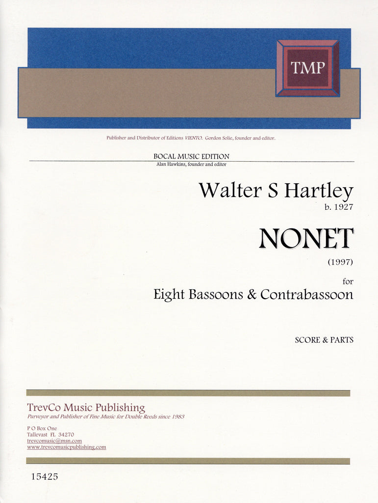 Hartley, Walter S. % Nonet (Score & Parts)-8BSN/CBSN