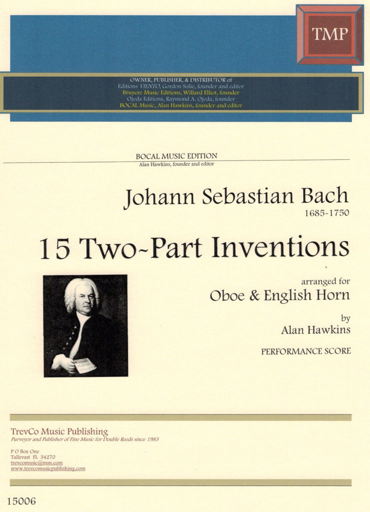 Bach, JS % 15 Two-Part Inventions (Performance Score)-OB/EH