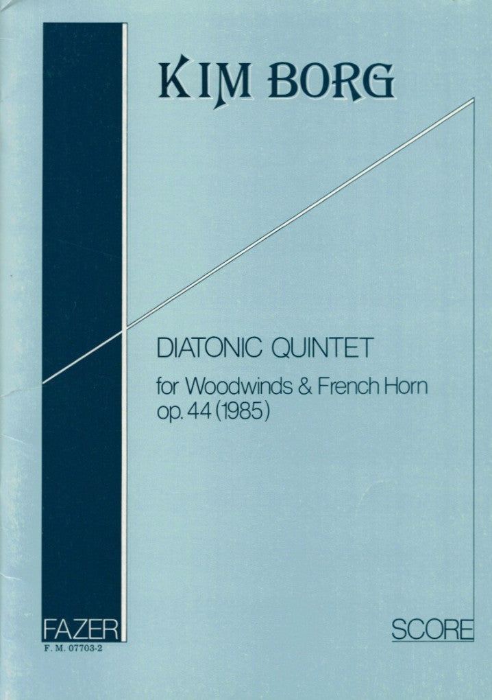 Borg, Kim % Diatonic Quintet Op 44 (Score & Parts)-WW5 (Bass Clarinet)