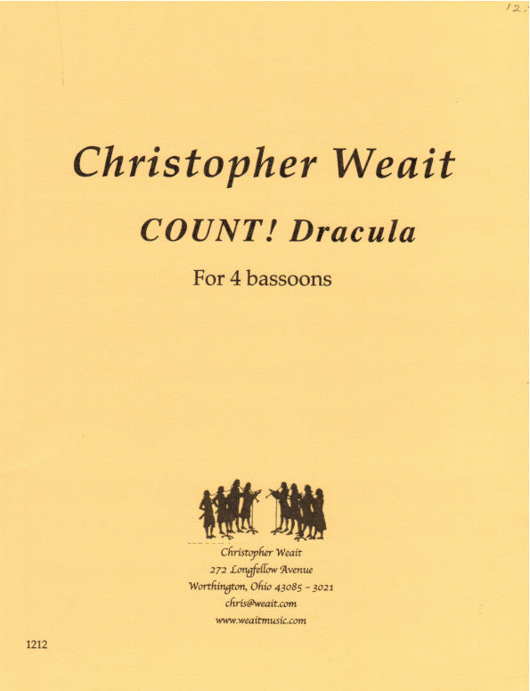 Weait, Christopher % COUNT! Dracula (Score & Parts)-4BSN