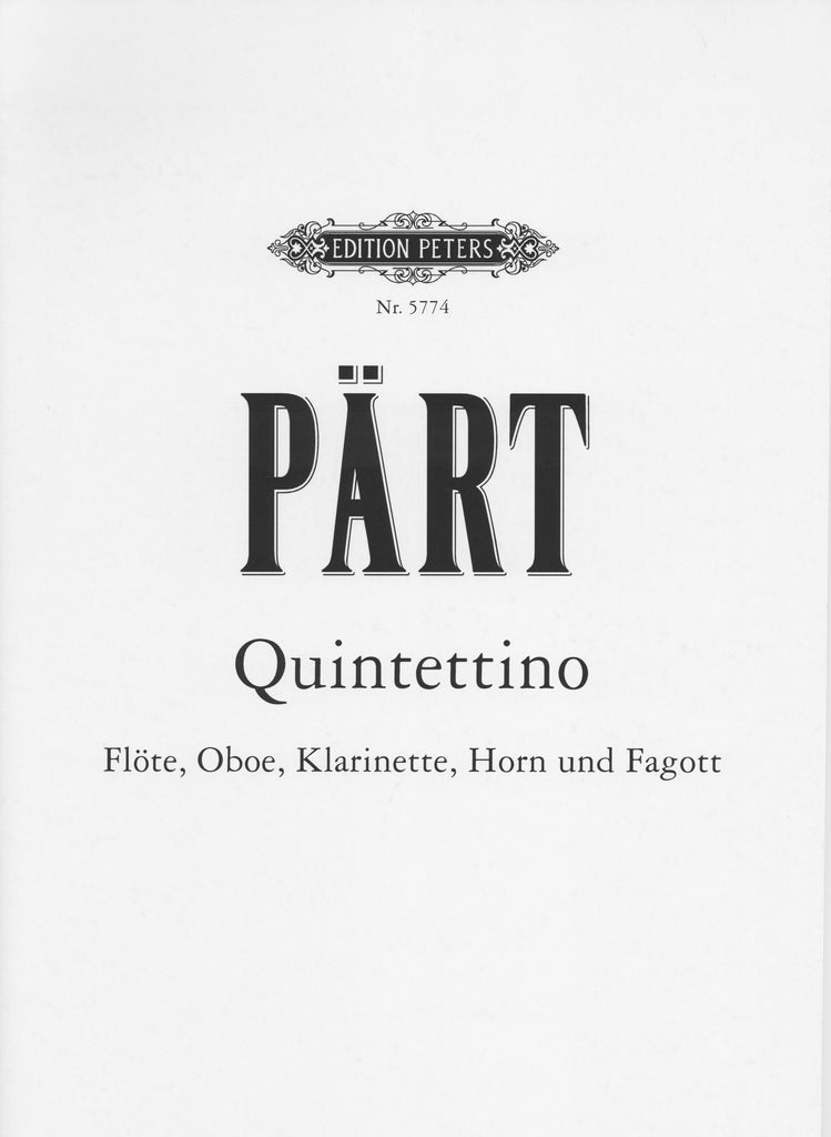 Part, Arvo % Quintettino (Parts Only)-WW5