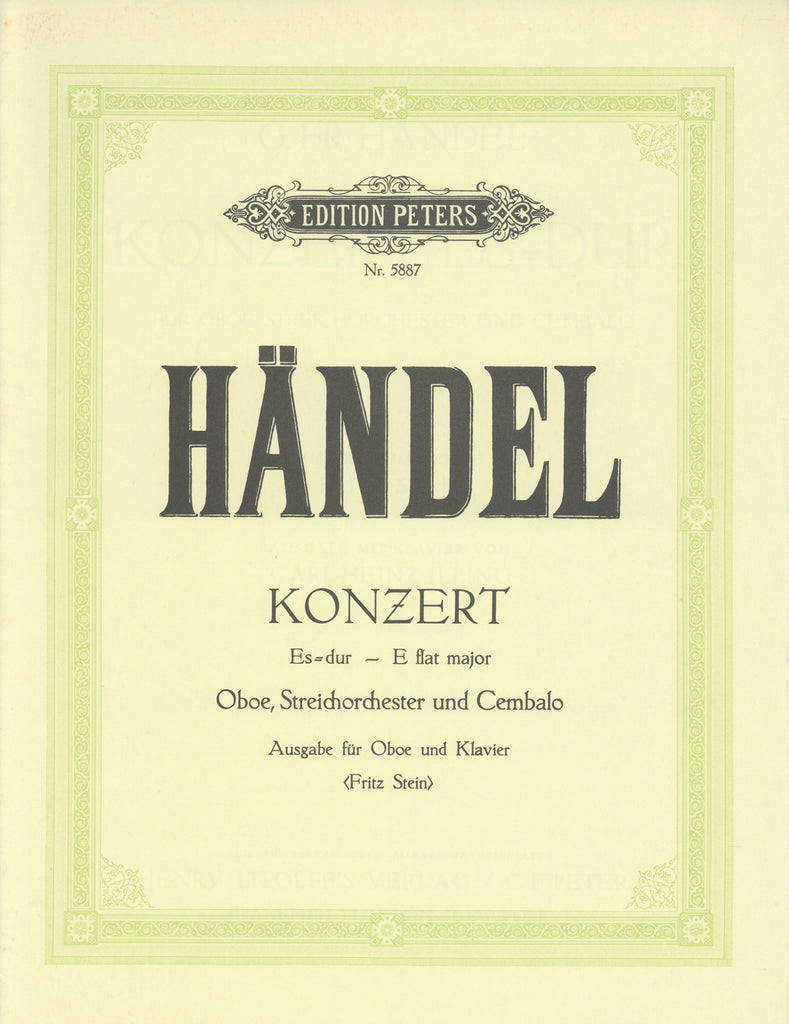 Handel, Georg Friedrich % Concerto in Eb Major-OB/PN