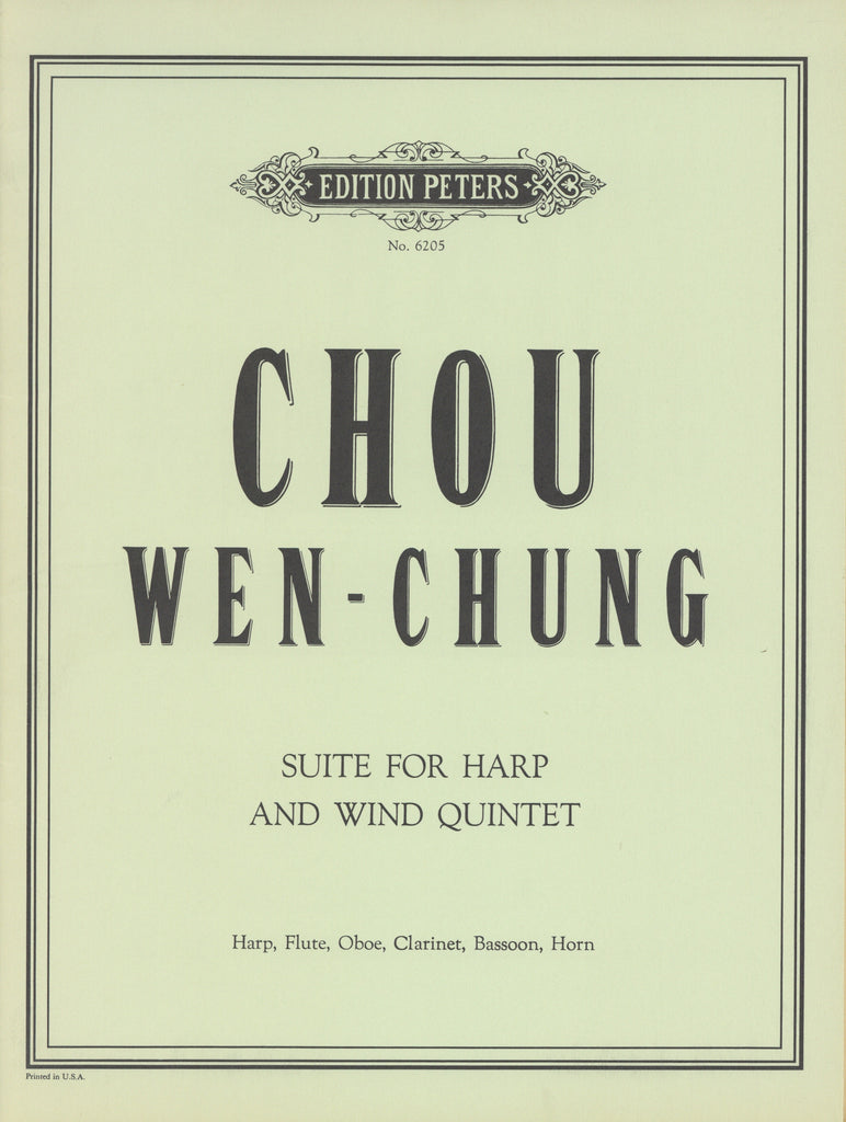Chou, Wen-chung % Suite for Harp & Wind Quintet-WW5/HARP