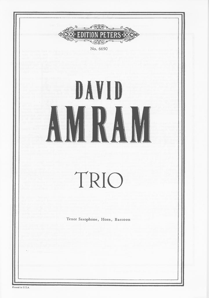 Amram, David % Trio (score only)-TSAX/HN/BSN