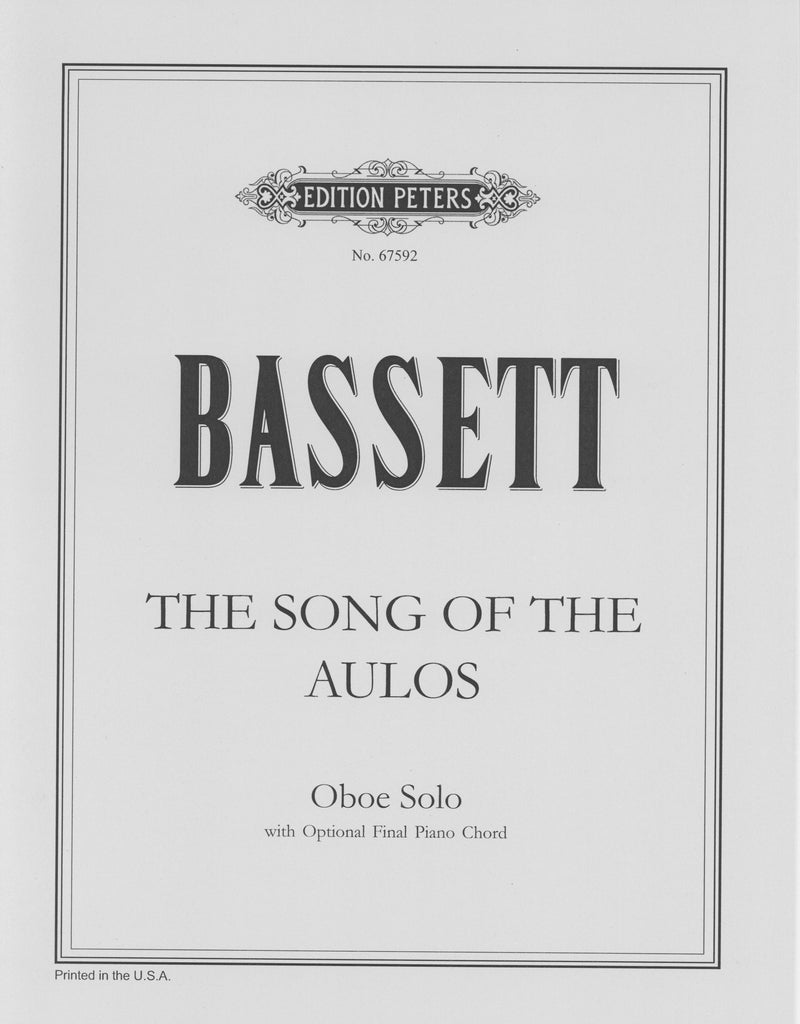 Bassett, Leslie % The Song of the Aulos-SOLO OB