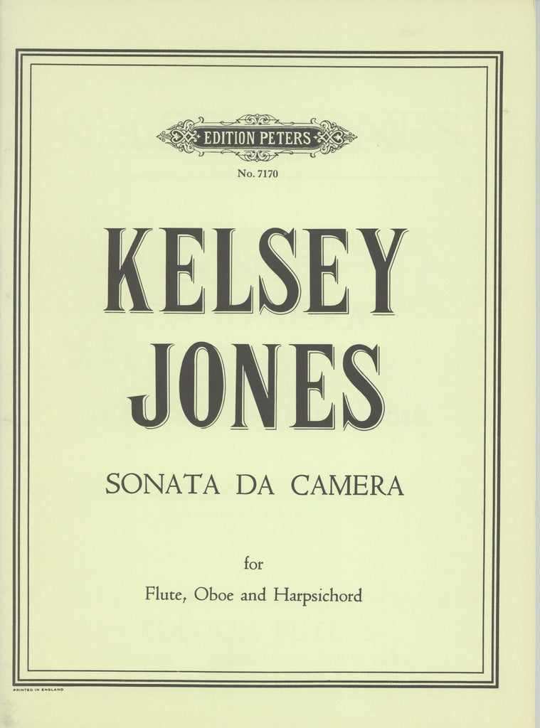 Jones, Kelsey % Sonata di Camera-FL/OB/HARPSICHORD