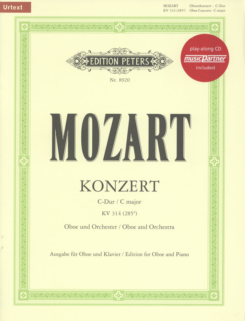 Mozart, Wolfgang Amadeus % Concerto in C Major K314 (Schenck)-OB/PN (CD)