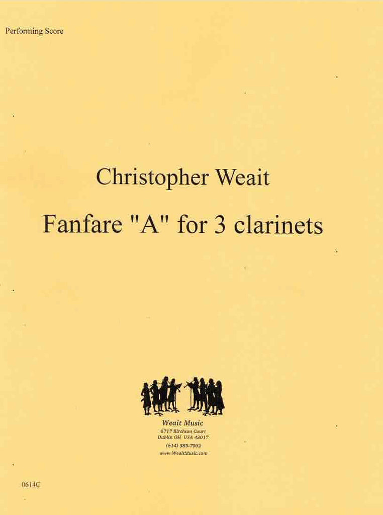 "Weait, Christopher % Fanfare ""A"" (Performance Scores)-3CL"