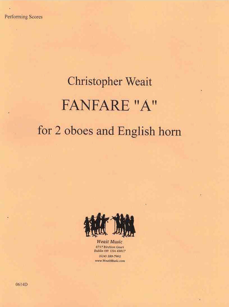 "Weait, Christopher % Fanfare ""A"" (Performance Scores)-2OB/EH"