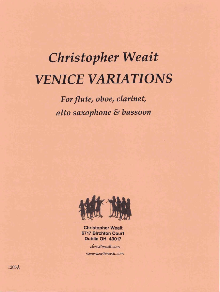 Weait, Christopher % Venice Variations (Score & Parts)-FL/OB/CL/ASAX/BSN