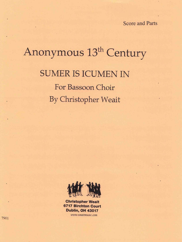 Weait, Christopher % Summer Is Icumen In (Score & Parts)-8BSN/2CBSN