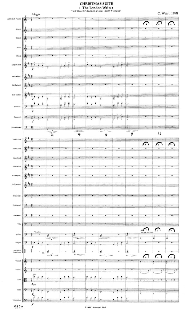Weait, Christopher % Christmas Suite (Score & Set)-ORCH