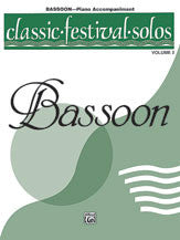 Misc % Classic Festival Solos V2 (Bassoon Book Only)-BSN/PN