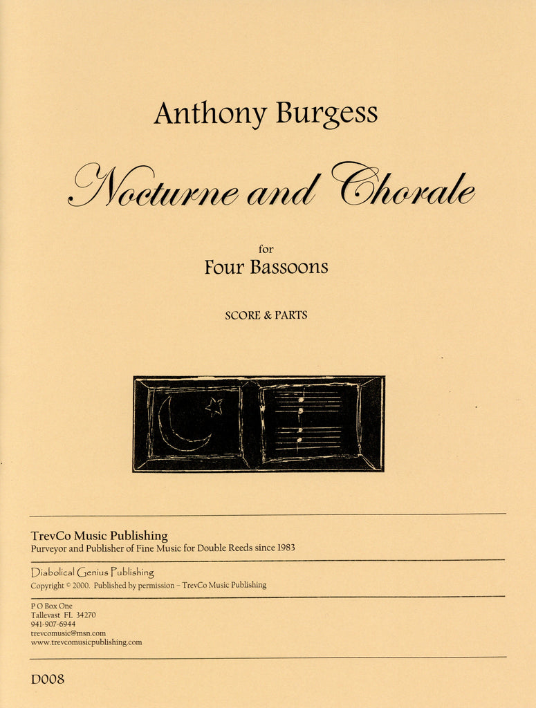 Burgess, Anthony % Nocturne & Chorale (score & parts)-4BSN