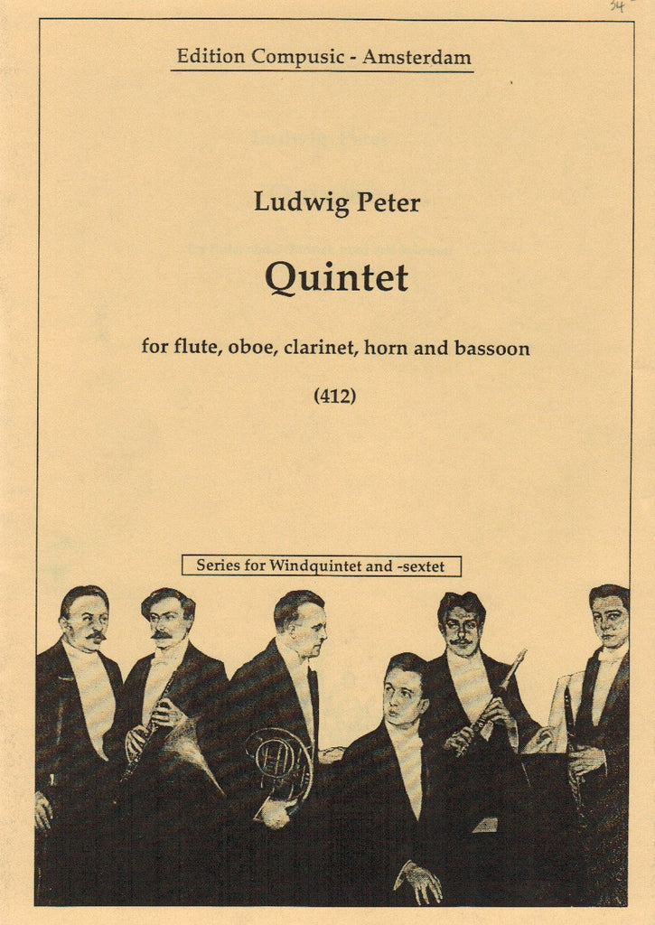 Peter, Ludwig % Quintet (Score & Parts)-WW5
