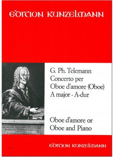 Telemann, Georg Philipp % Concerto in A Major TWV51:A2-OB D'AMORE/PN or OB/PN