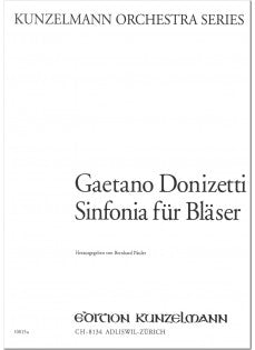 Donizetti, Gaetano % Sinfonia for Winds (Parts Only)-FL/2OB/2CL/2BSN/2HN
