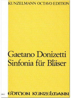 Donizetti, Gaetano % Sinfonia for Winds (Score Only)-FL/2OB/2CL/2HN/2BSN