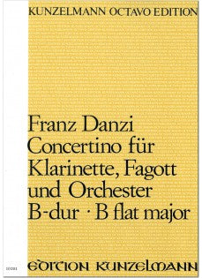 Danzi, Franz % Concertino in Bb Op 47 (Score & Set)-CL/BSN/ORCH